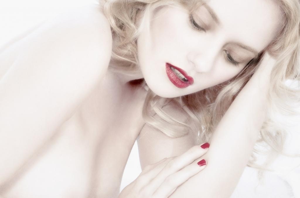 Gaby, in white